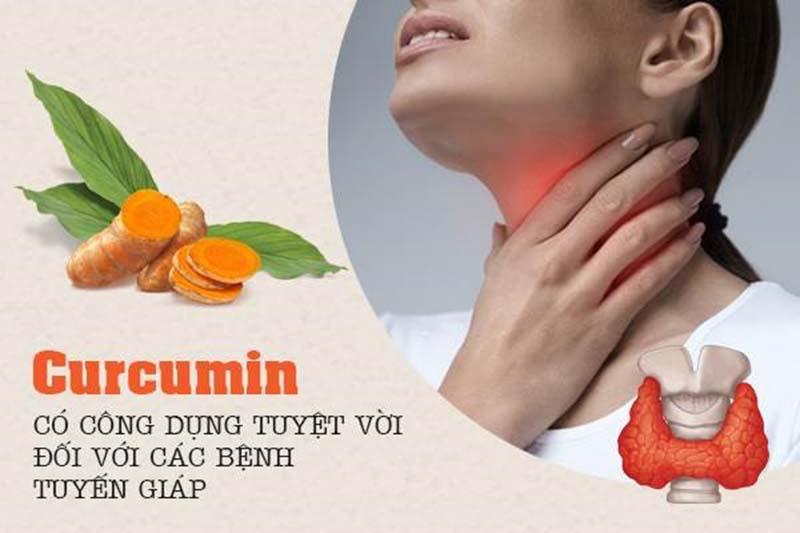 Curcumin có công dụng tuyệt vời đối với các bệnh tuyến giáp